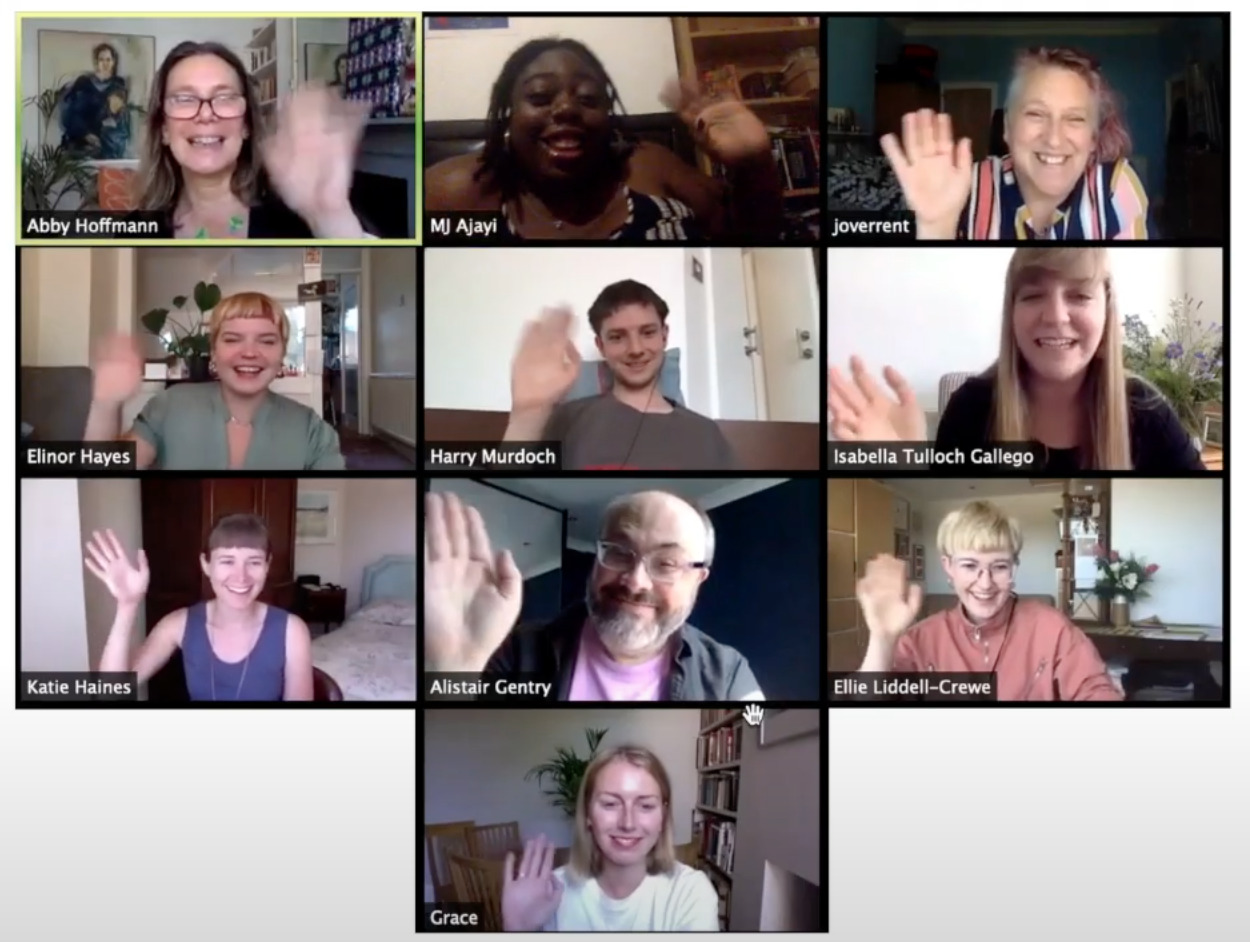 Screenshot of a zoom meeting between the unlimited team!